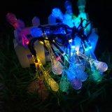 Hot Sale Crystal Waterdrops Solar LED String Lights Ornements de Noël