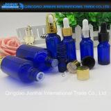 Weiß/Brown/Blaue/Grün-wesentliches Öl-Glasflasche mit Tropfenzähler