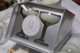 Новые роскошные ароматические свечи в хрустальное стекло Кубок чашки набор из двух с серебристым подарочной упаковки в коробки окна