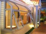 Finestra di alluminio della tenda con doppi vetro e griglie all'interno