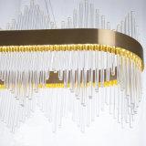 De moderne Minimalistische Kroonluchter van de Decoratie van de Techniek van het Hotel van de Woonkamer van de Slaapkamer van het Restaurant van het Glas van het Kristal Creatieve