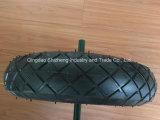 3.50-4 pneu de borracha da alta qualidade com o pneumático de aço do Wheelbarrow da borda