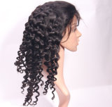 parrucca piena del merletto delle nuove dei capelli umani 7A del merletto donne profonde seriche brasiliane reali dell'onda