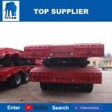 タイタンの三車軸低いローダーの掘削機の75トンおよび45トン機械の輸送のための低いベッドのトレーラー
