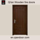 Portes en bois normales évaluées de placage d'incendie en bois solide
