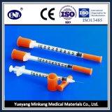의학 처분할 수 있는 인슐린 주사통, Ce&ISO가 바늘 (1ml)와 더불어, 승인된 상태에서
