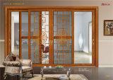 Alliage d'aluminium de conception de châssis de fenêtre en verre coulissantes horizontales