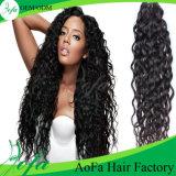 Prolongation brésilienne de cheveux humains de cheveux de Vierge non-traitée de 100%