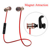 Annulation de bruit Stereo Bass Metal Bluetooth V4.1 Magnet Attraction Sport Earphone