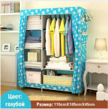Grande armoire Speace moderne et simple de vêtir les armoires de rangement meubles Non-Woven placard penderie de pliage pour la chambre (FW-28)