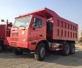 Евро 2 HOWO 6X4 тележка сброса минирование 70 тонн