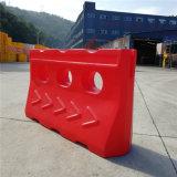 Красный вращательный пластичный водоналивной барьер обочины барьеров
