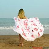 Напечатанное полотенце пляжа круга Microfiber с Tassels (животное)