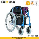 Cadeira de rodas automotora elétrica do poder Foldable de alumínio de Topmedi