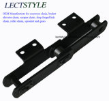 HS101.6、HS152.4、Ltf665-164、Ltf100のLtf125コンベヤーの鎖そして穀物機械のための溶接された鋼鉄スクレーパーの鎖
