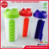 De Vrije Fles van het Water van de Fles van de Reis van Nieuwe Producten BPA Plastic met de Doos van de Pil