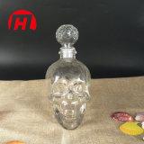 Cabeça de cranio Crystal Shot Decantador de vidro Vinho Vodka Whisky garrafa de vidro