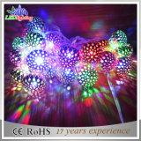Luz Multicolour da corda da decoração da esfera de metal do Natal do diodo emissor de luz
