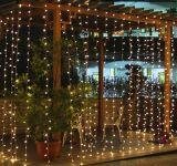 Feriado ao ar livre da luz do sincelo da cortina da corda da decoração do Natal do diodo emissor de luz