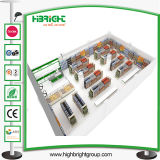 1개의 정지 소매 슈퍼마켓 장비 디자인