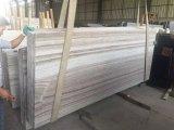 Laje de mármore de madeira de cristal de mármore branca barata de China cortada ao tamanho