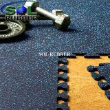 La résistance au feu de qualité Premium de plancher de caoutchouc de verrouillage de conditionnement physique