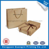 Simple Design Brown Paper Kraft Shopping Bag et Box Set