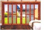 Serie 100 della rottura dell'alluminio non termico di vetratura doppia che fa scorrere i portelli del patio con 3 rotaie e schermi dell'insetto da Woodwin Guangdong