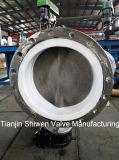 Нержавеющая сталь CF8 фланцевого типа двухстворчатый клапан с тефлоновой подложки сиденья
