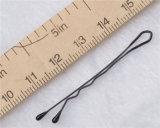 4.5cm 신성한 꽃 고전적인 까만 금속 머리 그립 (JE1039)
