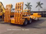 반 2개의 차축 거위 목 모양의 관 Lowbody Lowloader Lowbed 트럭 트레일러