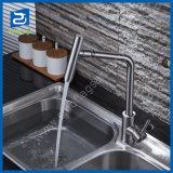熱く、冷たいInox盆地のコックのステンレス鋼の洗面器の蛇口