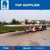 Titan-Fahrzeug - 20FT 40FT Flachbett-Behälter-Schlussteil-LKW für das Transportieren