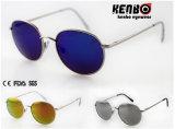 Круглые солнечные очки металла рамки с плоским объективом Km15223