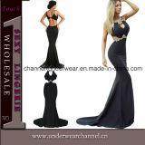 Top sexy noir robe de soirée élégante Prom (61052)