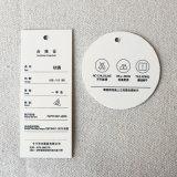 Frischer Muster-einfacher Entwurfs-runder lederner GepäckHangtag