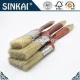 Brosse à cheveux en cochon naturel avec brosse à bois