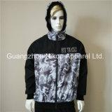 Qualitätsform gedruckte Mensmit kapuze Windbreaker-Umhüllungen mit Baumwollfutter