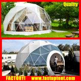 透過鉄骨フレームの測地線ドームのテント