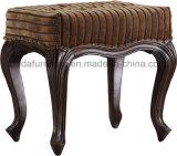 ファブリック房状のベンチの長方形のオットマン