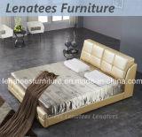 Mobília elegante do couro do projeto do quarto S248