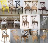 Presidencia directamente de fábrica de madera de la naturaleza de la Cruz banquete de bodas sillas Volver