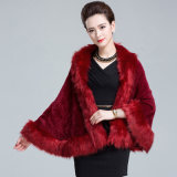 Lady Fashion Faux Fur Inverno Knitted Shawl (YKY4457)