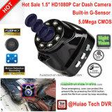 Gセンサー、5.0mega CMOS車のカメラDVR-1506が付いている安いHuiaoの技術車のカムコーダーDVR