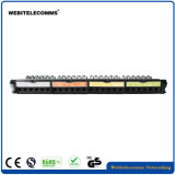 1u Unshield UTP 24 portas CAT6 Free-Tool Rede Colorida Patch Panel