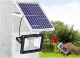 réverbère solaire rechargeable monté par Pôle de l'inondation DEL de 12V/24V 40With60W