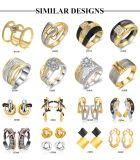 Última jóias lustroso pedra cristal brinco mulheres Gold brinco