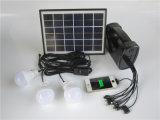 5W de draagbare LEIDENE van het Systeem van de Uitrusting van het Zonnepaneel 3W Verkoop van Gloeilampen USB