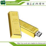 Movimentação dourada do flash do USB do presente quente da promoção