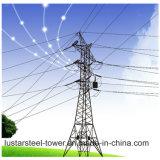 Línea de transmisión de la fuente de la fábrica torre de potencia de la estructura de acero